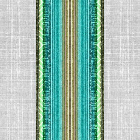 Beach faux linen stripe fabric by joanmclemore on Spoonflower - custom fabric