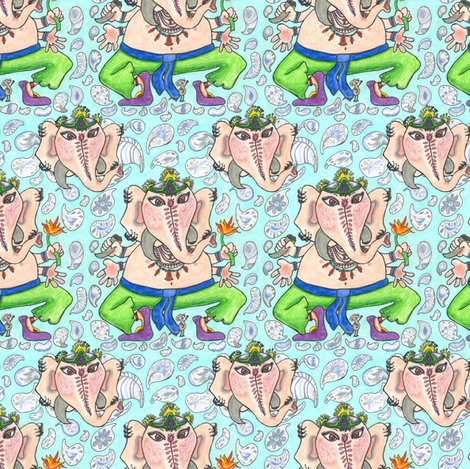 Beloved Ganesha II fabric by amy_g on Spoonflower - custom fabric