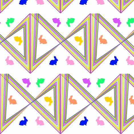 Bunny Fractals fabric by ravynscache on Spoonflower - custom fabric