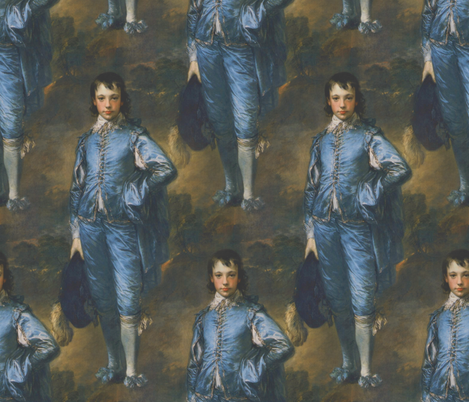 Thomas Gainsborough ~ The Blue Boy fabric by peacoquettedesigns on Spoonflower - custom fabric