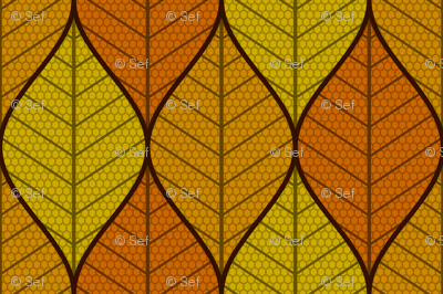 symmetric sine leaf 3 - autumn