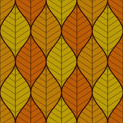 symmetric sine leaf 3 - autumn fabric by sef on Spoonflower - custom fabric