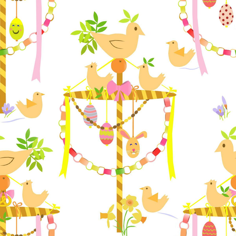 Easter celebration  fabric by alfabesi on Spoonflower - custom fabric