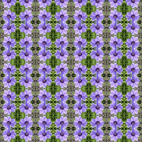 Lavender Daisy fabric by winterblossom on Spoonflower - custom fabric
