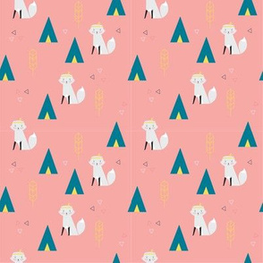 Indian Fox Pink Fabric