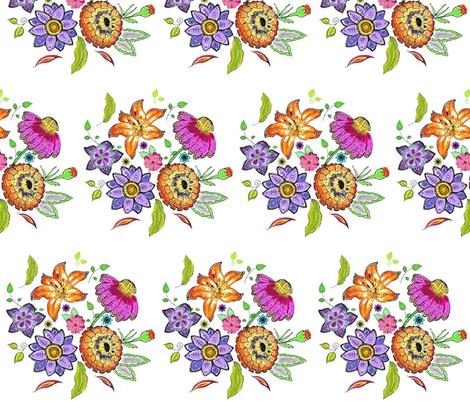 posy fabric by kerryn on Spoonflower - custom fabric