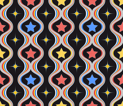 GirlPower_coordinate fabric by vannina on Spoonflower - custom fabric