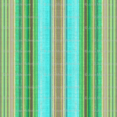 Cabana Beach Stripe in blue green and taupe