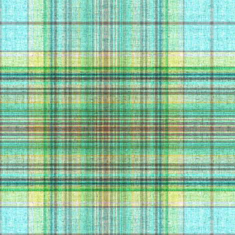 Beach House plaid in blue and green  fabric by joanmclemore on Spoonflower - custom fabric