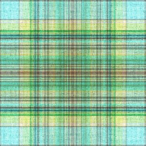 Beach House plaid in blue and green