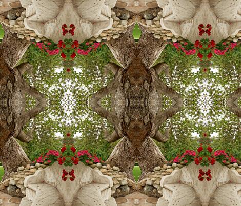 Stone bench fabric by studiogala on Spoonflower - custom fabric