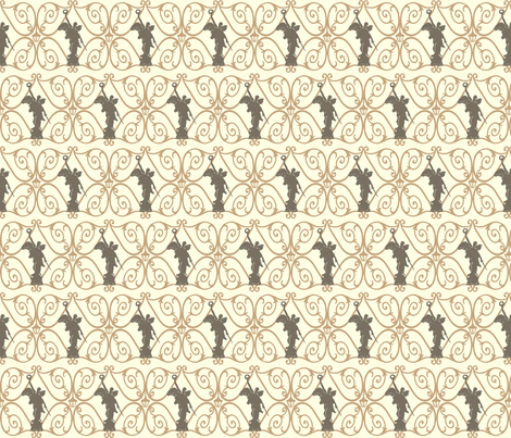 Angel in the Diamond : Neutral fabric by cherryandcinnamon on Spoonflower - custom fabric