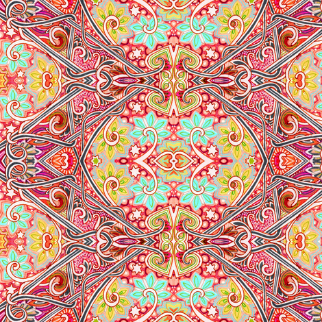 Gazing Into the Crystal Ball   fabric by edsel2084 on Spoonflower - custom fabric