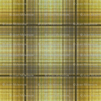 Plaid in mustard