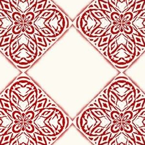 Woodblock Quatrefoil Tiles