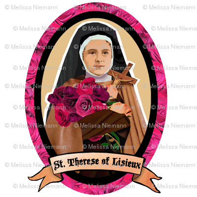 St. Therese of Lisieux Wall Decal Medium