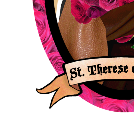 St. Therese of Lisieux Wall Decal Medium fabric by magneticcatholic on Spoonflower - custom fabric
