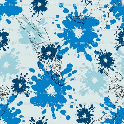 Paintball Warriors - light blue