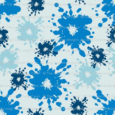 Paintball Splatter - light blue