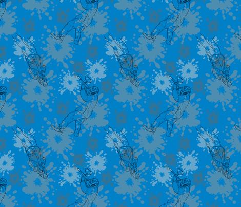 Paintball Warriors - dark blue fabric by rusticcorgi on Spoonflower - custom fabric
