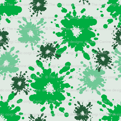Paintball Splatter - light green