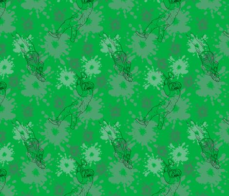 Paintball Warriors - dark green fabric by rusticcorgi on Spoonflower - custom fabric