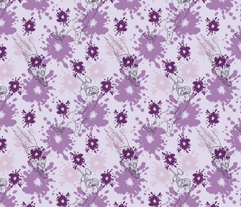 Paintball Warriors - light purple fabric by rusticcorgi on Spoonflower - custom fabric