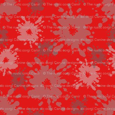 Paintball Splatter - dark red