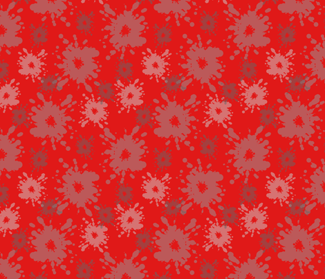 Paintball Splatter - dark red fabric by rusticcorgi on Spoonflower - custom fabric