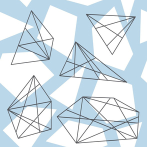 Blue Gray Geometric