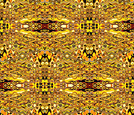 Golden Ripple fabric by whimzwhirled on Spoonflower - custom fabric