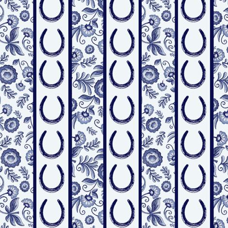 Delft Stripes fabric by ragan on Spoonflower - custom fabric