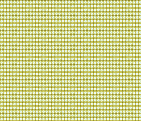Bankers Daisy Green fabric by cherryandcinnamon on Spoonflower - custom fabric