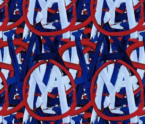 419 - Welcome to USA fabric by henriyoki on Spoonflower - custom fabric