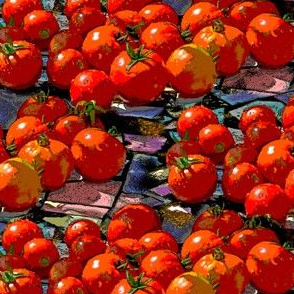 Tomatoes on Tiles