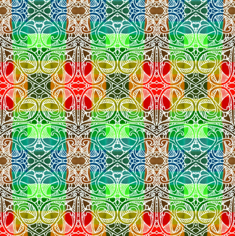 Tropical Ombre Christmas Plaid in the Snow or White Sands fabric by edsel2084 on Spoonflower - custom fabric