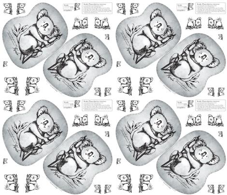 Koala fabric by trubludesign on Spoonflower - custom fabric