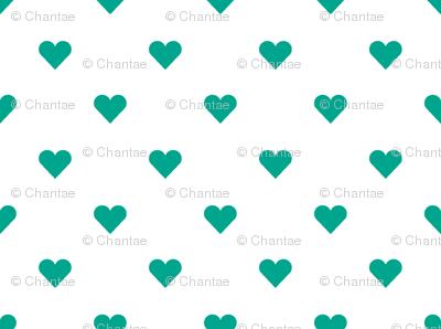 hearts mini in emerald