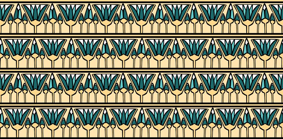 Teal Lotus fabric by pond_ripple on Spoonflower - custom fabric