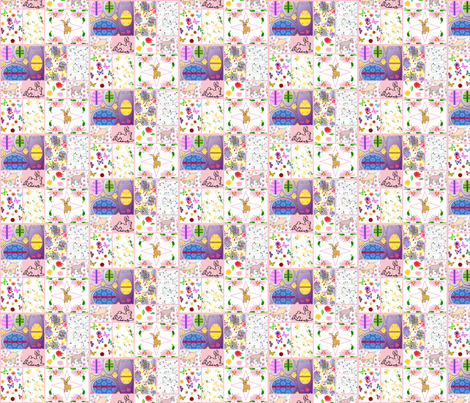 Easter Quilt fabric by ravynscache on Spoonflower - custom fabric