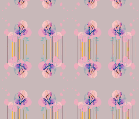 Flutter in Mauve fabric by powellingaround on Spoonflower - custom fabric
