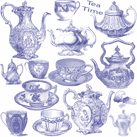 tea time fabric by krs_expressions on Spoonflower - custom fabric
