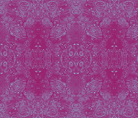 Blue Skies Grandma's Handkerchief Doodle Spiral Swirlygigs fabric by fentonslee on Spoonflower - custom fabric