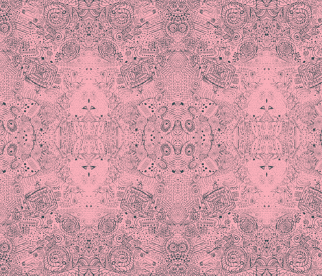Bright Orion Nebula Doodle Spiral Swirlygigs fabric by fentonslee on Spoonflower - custom fabric