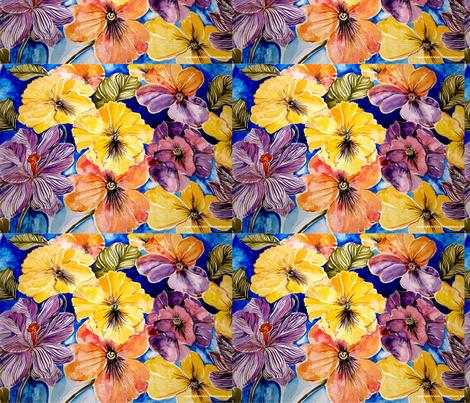 pansies_and_crocus_by_geaausten-d5xi53fn fabric by geaausten on Spoonflower - custom fabric