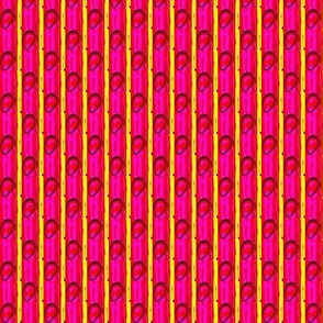 Pink stripes and drops