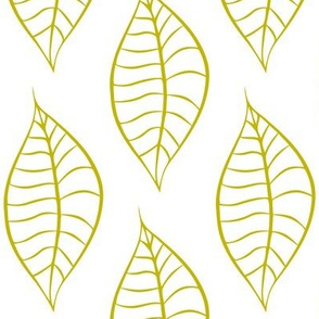 Geometric Citron Chartreuse Leaves