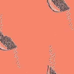 Seeds coral + peach