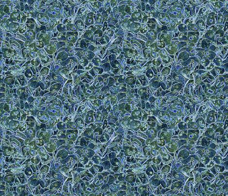 """Hydrangea Dark Blue"" fabric by jeanfogelberg on Spoonflower - custom fabric"