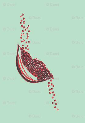 Seeds aqua and vemillion